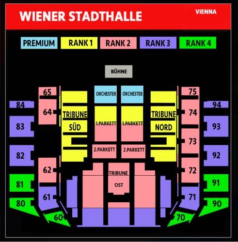 Wiener Stadthalle Wenen André Rieu busreis concertzaal plattegrond